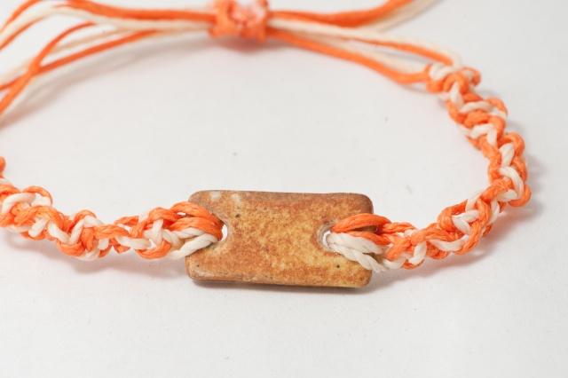 Armband mit rechteckigem Porzellanmedaillon Bild
